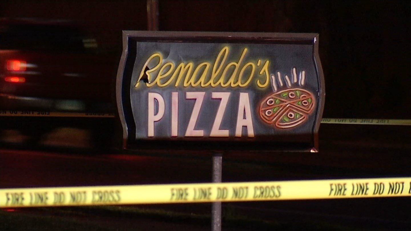 An overnight fire damaged Renaldo's Pizza in Southington. (WFSB photo)
