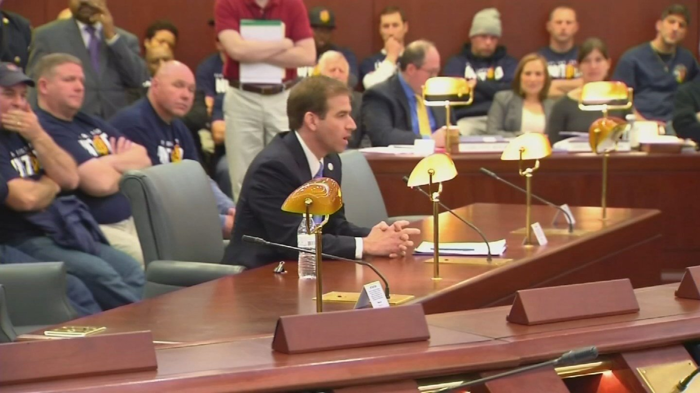 Mayor Luke Bronin discusses plans to quell Hartford's budget crisis. (WFSB file photo)