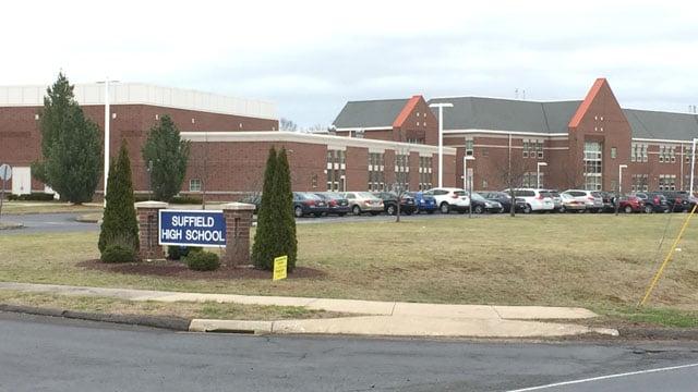 Suffield High School. (WFSB photo)