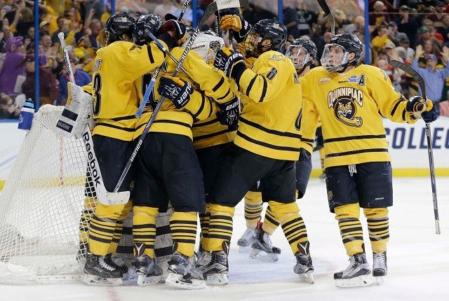 The Quinnipiac Bobcats beat Boston College Thursday night, 3-2 (AP Images)