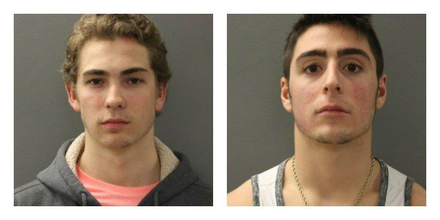 axime Giesen and  Robert S. Amonica were arrested after a rally of QU students. (Hamden Police Department)