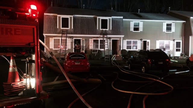 Fire was reported at condominium complex on Brentwood Drive  in Wallingford on Friday evening. (WFSB)