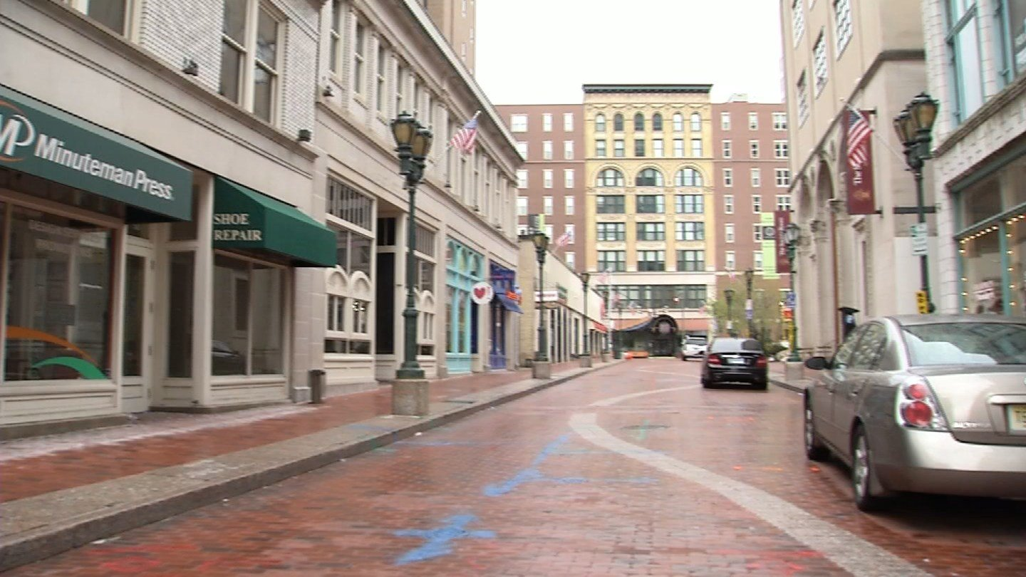Pratt Street will be closed until at least the fall while crews replace its bricks. (WFSB photo)