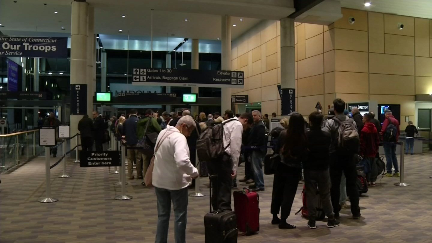 Sen. Richard Blumenthal is looking to expand airport security at places like Bradley International Airport. (WFSB photo)