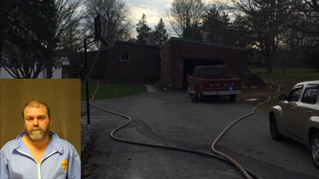 Steven Weidler was charged with arson after fire on Marshal Lane. (Ansonia Police Department)