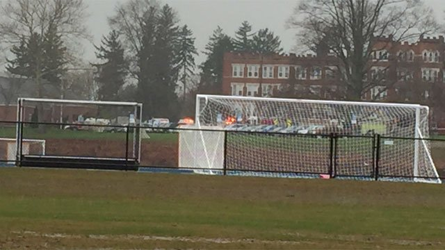 Lauralton Hall in Milford was evacuated on Tuesday. (WFSB)