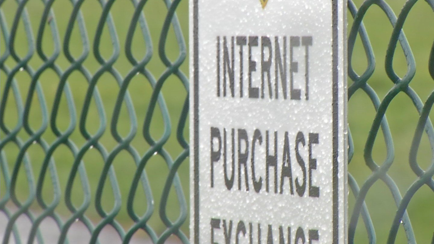 Safe zone for online transactions setup at Cromwell Police Department. (WFSB)