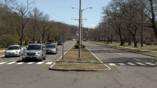 A contractor for the city of Bristol painted white lines down Memorial Boulevard without the city's approval. (WFSB)