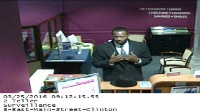 An unidentified man withdrew $5,000 from Liberty Bank in Clinton. (Clinton PD)