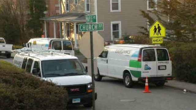 Crews continued to restore gas service to customers on Thursday. (WFSB)