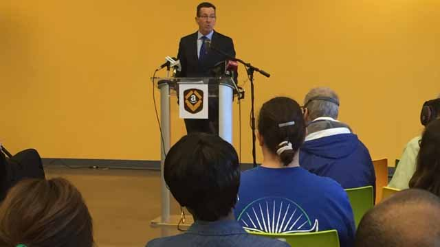 Gov. Dannel Malloy joined other elected officials, as well as company officials, to mark the occasion and tour the facility. (WFSB)
