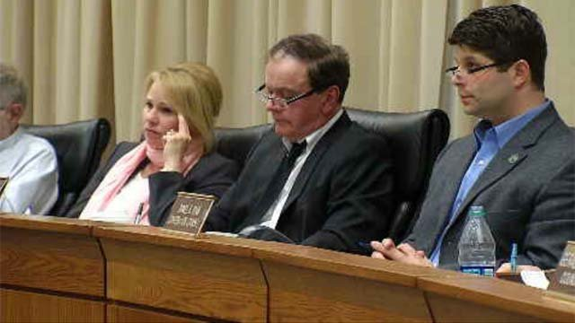 City leaders discussed possible layoffs in Middletown on Thursday night. (WFSB)