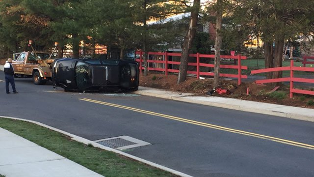 Police are investigating crash near Bradley Avenue and Leslie Drive. (WFSB)