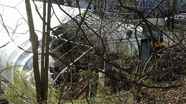 A greenhouse in Hamden was damaged after a fire early Friday morning.  (Hamden Fire Department)