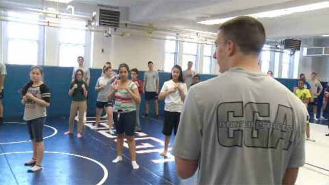 New London students took a trip to the Coast Guard Academy on Friday. (WFSB)