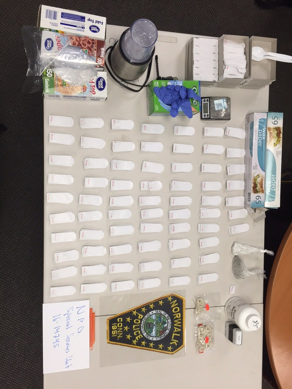 Police seized 60 bags of heroin after searching Guillen. (Norwalk PD)
