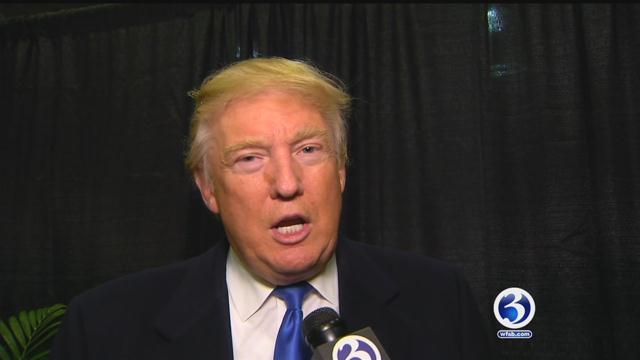Donald Trump talks with Eyewitness News last week. (WFSB)