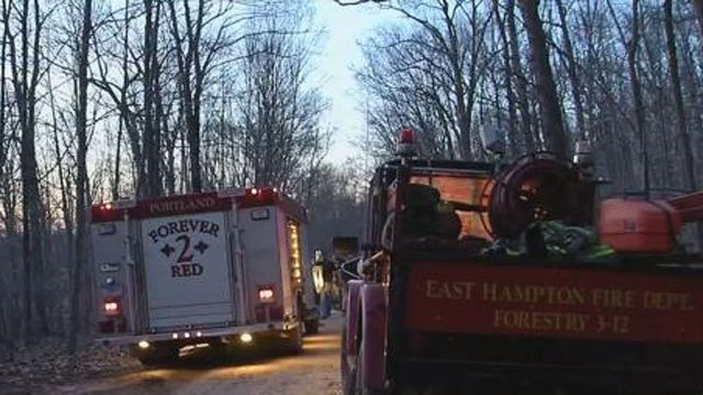 An Unattended camp fire could be the cause of large brush fire at a state park in Portland. (WFSB)