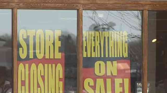 Signs were in the Eastern Mountain Sports in Manchester. (WFSB)