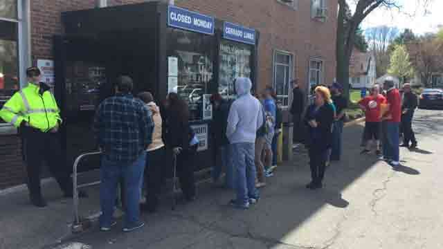 There were long lines outside the DMV in Wethersfield last month. (WFSB file photo)