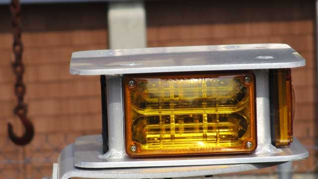 Police said since 2013, suspects have taken LED lights used on vehicles from both police and the Department of Transportation. (CT State Police)