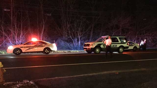 A woman was killed after being hit by a train in Wallingford on Tuesday night. (WFSB)