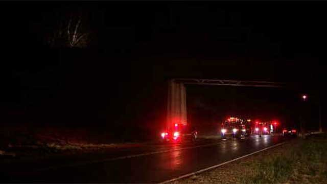 A brush fire broke out in Bristol on Tuesday evening. (WFSB)