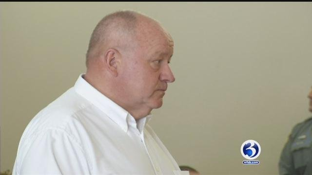 Bozrah First Selectman Glenn Pianka appears in court on Wednesday. (WFSB)