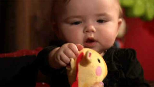 A Waterbury mother is warning other parents after her daughter Scarlett choked on a toy meant for babies. (WFSB)