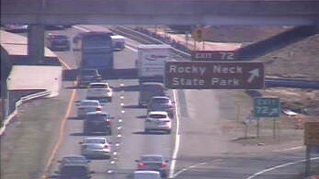 Traffic delays reported after crash on I-95 in East Lyme. (CT DOT)