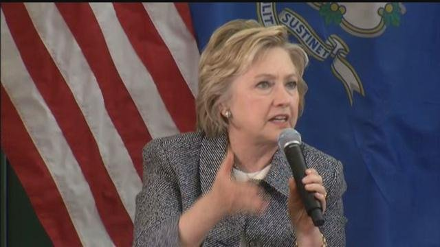 Democratic presidential candidate Hillary Clinton discusses gun violence. (WFSB)