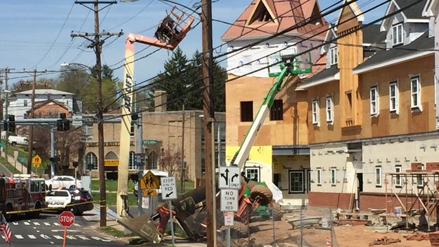 Two carpenters are OK after boom lift accident. (WFSB)