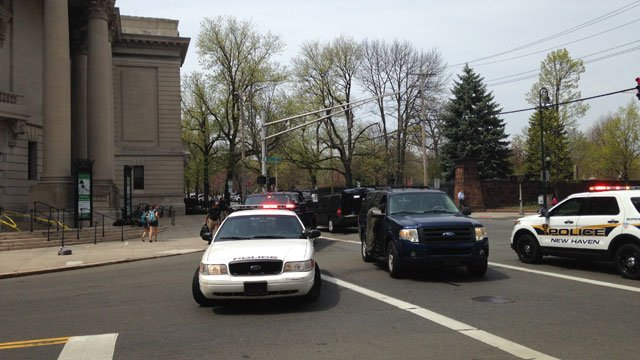 New Haven Bomb Squad called to Yale University campus. (WFSB)