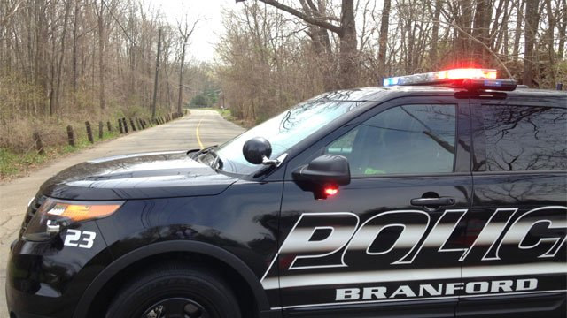 One person is dead after a motor vehicle crash in Branford on Friday. (WFSB)