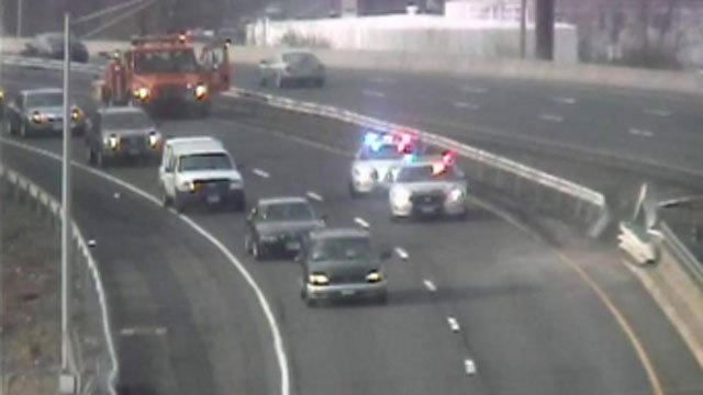 Crash closed southbound side of Route 8 in Waterbury. (CT DOT)