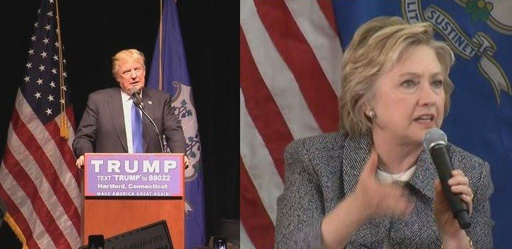 Republican presidential candidate Donald Trump and Democratic presidential candidate Hillary Clinton have made campaign stops in Hartford.  (WFSB photo)