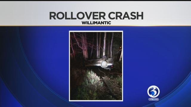 Police are investigating a rollover crash in Willimantic. (WFSB/viewer photo)