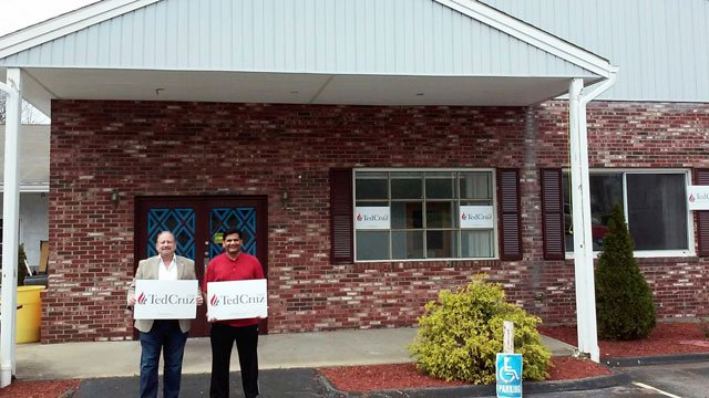 Ted Cruz opened a campaign office in Ellington on Saturday. (Joel Leyden)