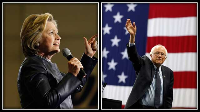 Hillary Clinton and Bernie Sanders will hold events in Connecticut on Sunday. (AP Images)