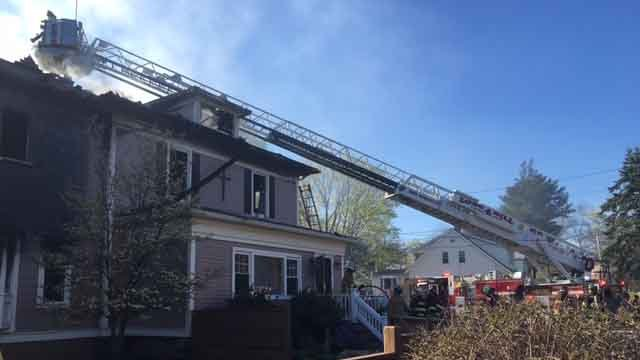 Crews battled a fire at a preschool in Trumbull on Sunday afternoon. (Trumbull Volunteer Fire Company)
