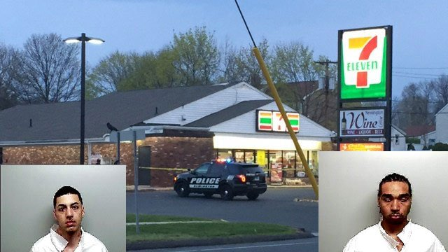 Guillermo Casada and Albert Gonzalez arrested for robbery/hostage situation at the 7-11 on Willard Avenue following a hostage situation. (WFSB/Newington Police)