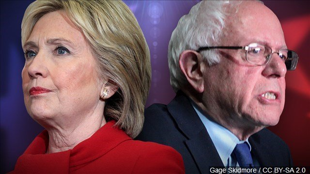 Democratic presidential candidates Hillary Clinton and Bernie Sanders. (MGN photo)