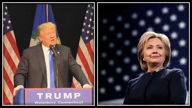 Donald Trump and Hillary Clinton win primaries in CT (WFSB/AP)