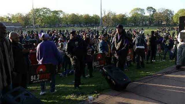 Hundreds celebrated Prince's life in New Haven on Wednesday night. (WFSB)