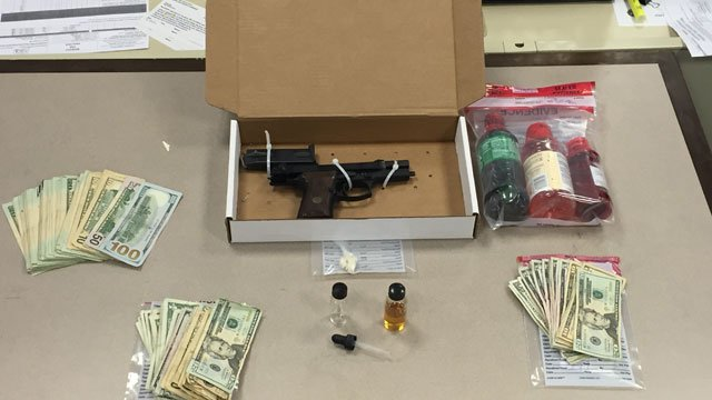 "Police seized the following items at a ""stash house"" on Stanford Street. (Hartford Police Department)"