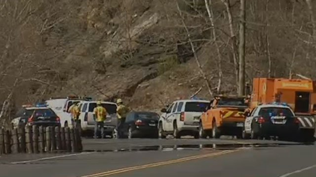 Two people were killed in a crash in Waterbury on Wednesday. (WFSB)