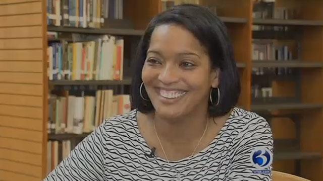 Waterbury teacher Jahana Hayes was named national teacher of the year. (WFSB)