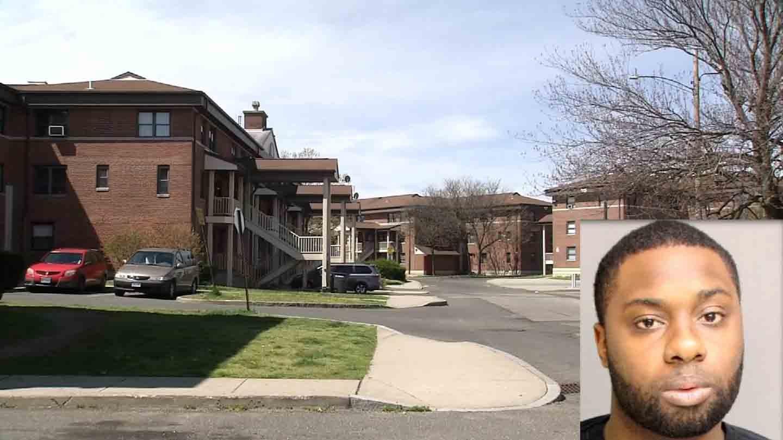 Errol Johnson was arrested at an apartment complex in Bridgeport. (WFSB/Bridgeport police photo)