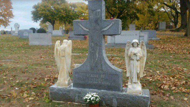 Police said 14 statues were stolen from Calvary cemetery in Waterbury. (WFSB)