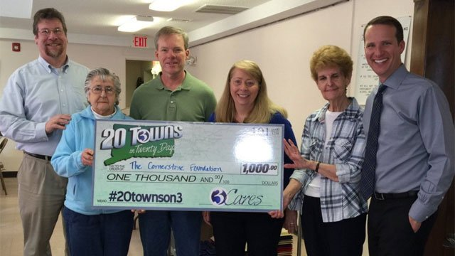 The Cornerstone Foundation received a paycheck from Eyewitness News on Friday. (WFSB)